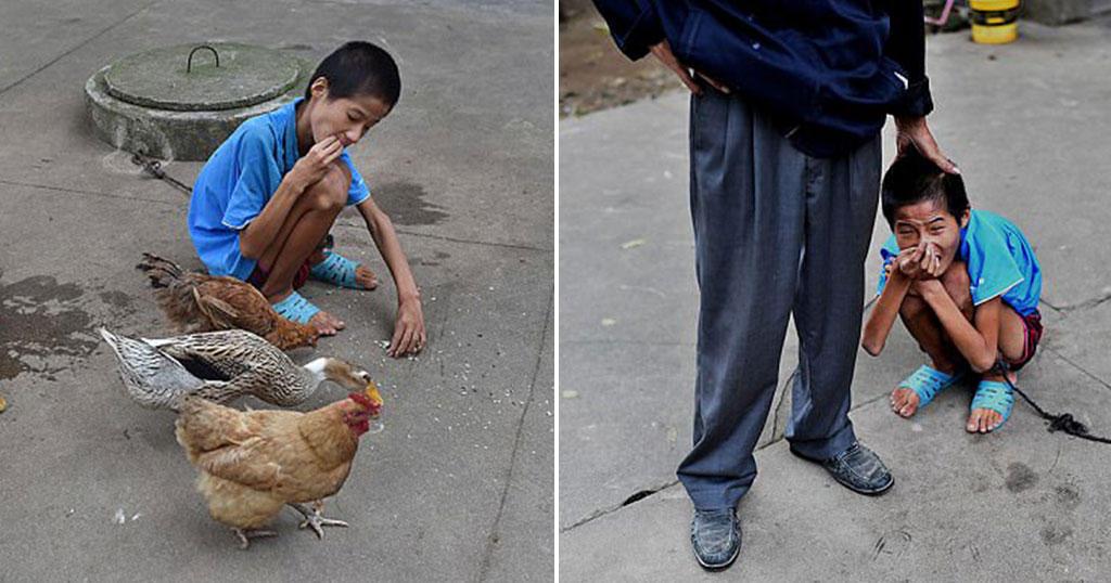 17χρονος με νοητική στέρηση ζει δεμένος 10 χρόνια σε πηγάδι στην Κίνα