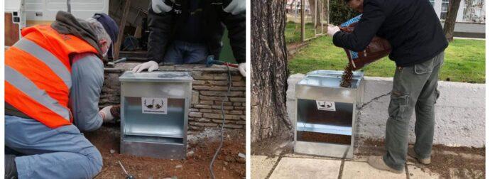Ο δήμος Αλεξανδρούπολης τοποθέτησε 6 νέες ταΐστρες -με φαγάκι- για τα αδέσποτα