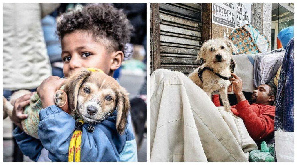 Βραζιλία: Συγκινητικές φωτογραφίες με τους άστεγους και τα σκυλάκια τους
